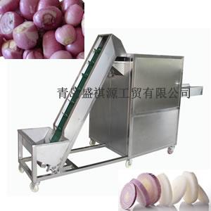Auto shallots slicing machine